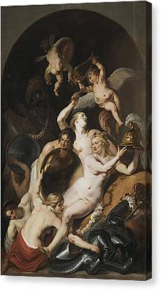 Armor Canvas Print - Venus In The Shop Of Vulcan by Theodoor van Thulden