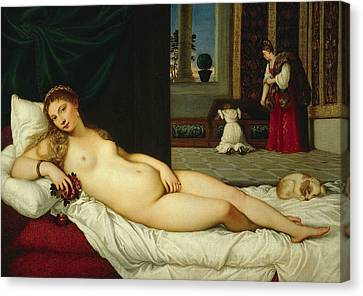 Venus Of Urbino  Canvas Print