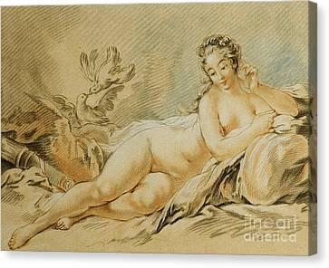 Venus Resting Canvas Print by Louis Marin Bonnet