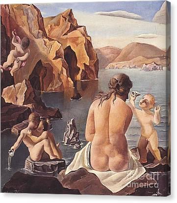 Venus With Cupid Canvas Print