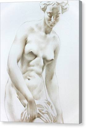 Canvas Print featuring the painting Venus1b by Valeriy Mavlo