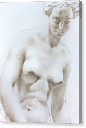 Canvas Print featuring the painting Venus1c by Valeriy Mavlo