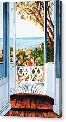 Veranda View, Prints From Original Oil Painting  Canvas Print