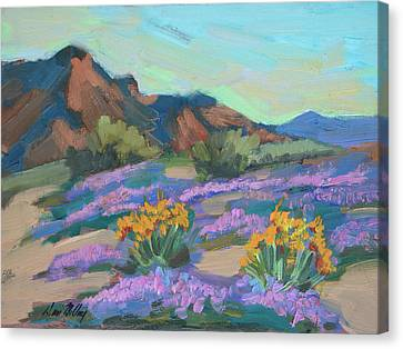 Canvas Print featuring the painting Verbena And Spring by Diane McClary