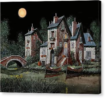 Verde Notturno Canvas Print by Guido Borelli