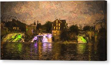 Vergennes Falls Lit Up Canvas Print