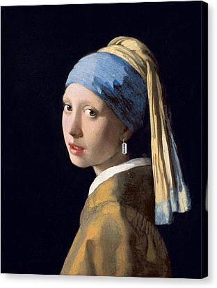Vermeer - Girl With A Razor Blade Canvas Print by Richard Reeve