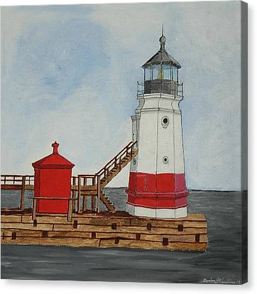 Vermilion Ohio Lighthouse Canvas Print by Gordon Wendling