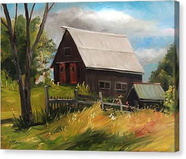 Vermont Barn Canvas Print by Nancy Griswold