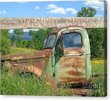 Vermont Cheese Canvas Print by Susan Lafleur