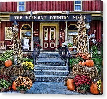 Vermont Country Store Canvas Print by Nancy De Flon