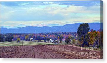 Vermont Countryside In Autumn Canvas Print by Catherine Sherman