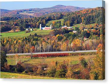 Vermont Countryside View Pownal Canvas Print by John Burk