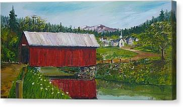 Vermont Covered Bridge Canvas Print by Russ Harriger