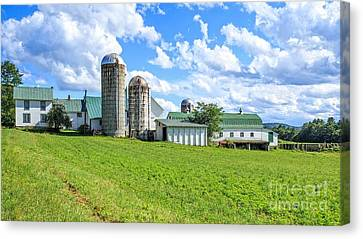 Vermont Farm Canvas Print by Edward Fielding