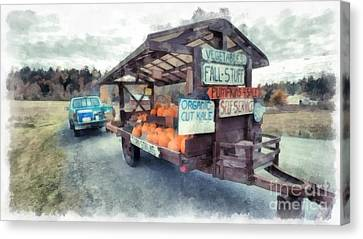 Farm Stand Canvas Print - Vermont Farm Stand by Edward Fielding
