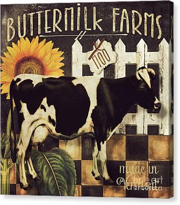 Vermont Farms Cow Canvas Print