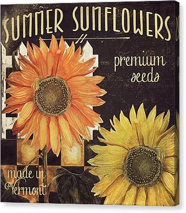 Vermont Farms Sunflowers Canvas Print by Mindy Sommers