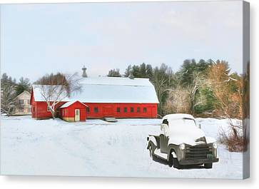 Canvas Print featuring the digital art Vermont Memories by Sharon Batdorf