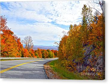 Vermont Mountain Road Canvas Print by Catherine Sherman