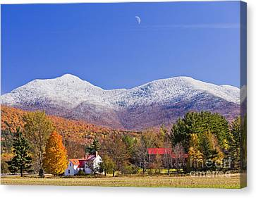 Vermont October Moonrise Canvas Print