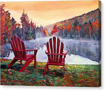 Vermont Romance Canvas Print by David Lloyd Glover