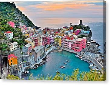 Vernazza At Daybreak Canvas Print