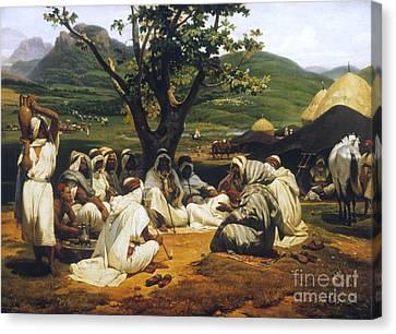 Vernet: Arab Tale-teller Canvas Print by Granger