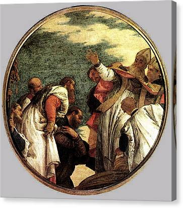 Veronese The People Of Myra Welcoming St Nicholas Canvas Print by Paolo Veronese