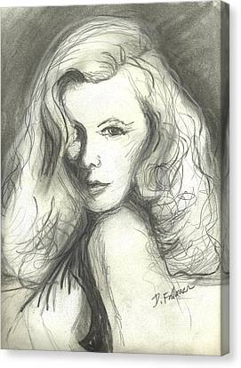 Veronica Lake Canvas Print by Denise Fulmer