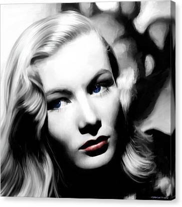 Veronica Lake Portrait #1 Canvas Print by Gabriel T Toro