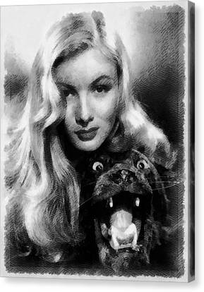 Veronica Lake Vintage Hollywood Actress Canvas Print by Frank Falcon