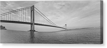 Verrazano Bridge - Small - 6 Ft Long - Panorama Canvas Print by Alex AG