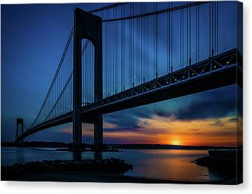 Canvas Print featuring the photograph Verrazano Sunset by Chris Lord