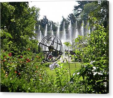 Canvas Print featuring the photograph Versailles Garden by Manuela Constantin