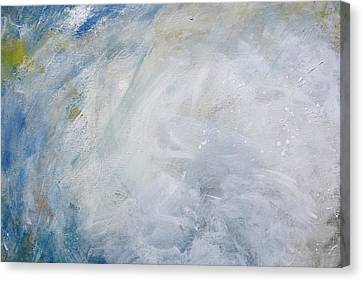 Silver Turquoise Canvas Print - Version 2 by Laurie Hein