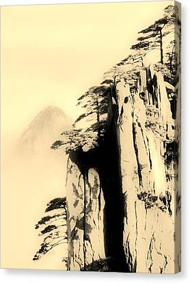 Surreal Infrared Sepia Nature Canvas Print - Vertical Cling by Siew May Chin