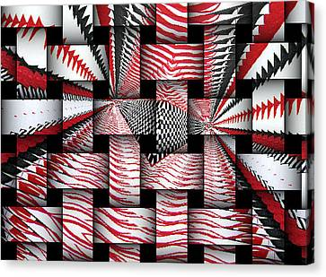 Canvas Print featuring the digital art Vertical Illusion 3 by Barbara Giordano