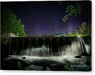 Mt Chocorua Canvas Print - Vertical Lines Of The Night by Scott Thorp