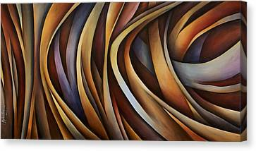 Verticle Design Canvas Print by Michael Lang