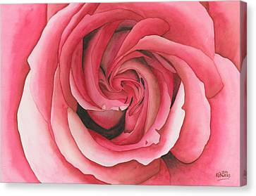 Vertigo Rose Canvas Print by Ken Powers