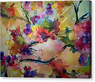Canvas Print featuring the painting Very Berry by Sandy Collier