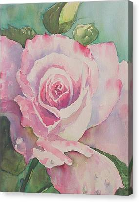 Very Rose  Canvas Print by Kathy  Karas