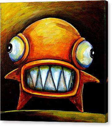 Very Scarey Glob Canvas Print by Leanne Wilkes