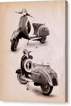 Vespa Scooter 1969 Canvas Print by Michael Tompsett