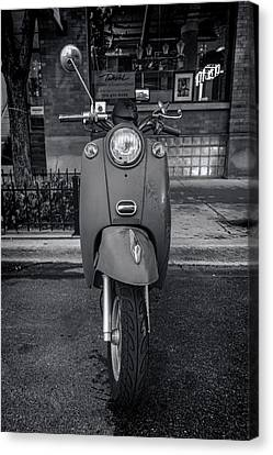 Canvas Print featuring the photograph Vespa by Sebastian Musial