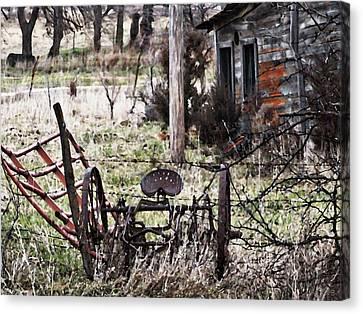 Barbed Wire Fences Canvas Print - Vesta Field Trip by Dennis Buckman