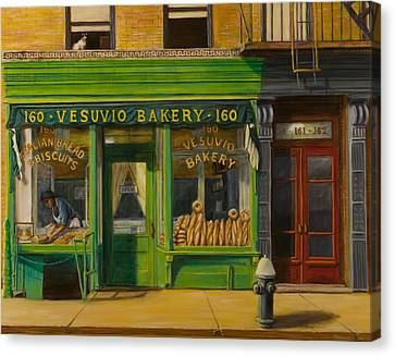 Vesuvio Bakery In New York City Canvas Print by Christopher Oakley