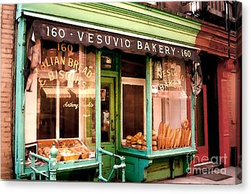Vesuvio Bakery Canvas Print by Linda  Parker