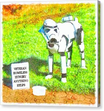 Veteran Dogtrooper - Da Canvas Print by Leonardo Digenio